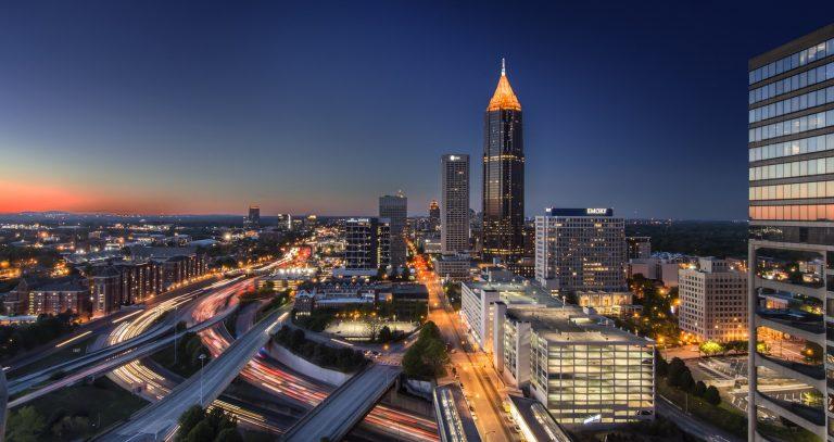 Atlanta USA by night